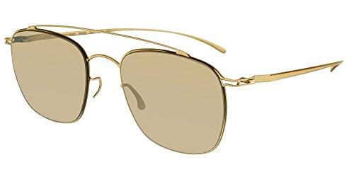 Mykita Sonnenbrillen MAISON MARGIELA MMESSE007 GOLD/GOLD MIRROR Herrenbrillen