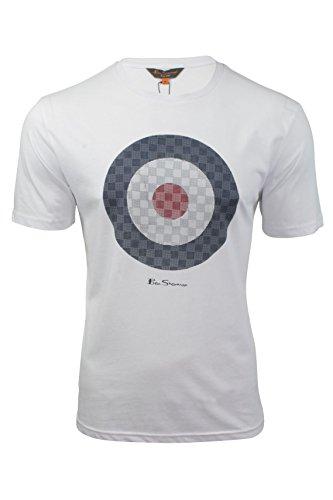 herren-t-shirt-von-ben-sherman-zeilscheibe-kurzarmlig-hellweiss-l