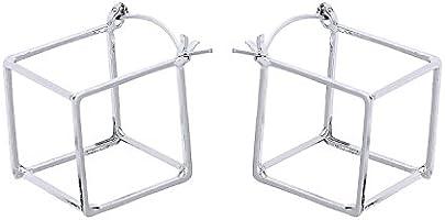 Front Row Damen Ohrringe Würfel in Silber
