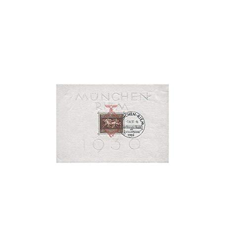 Goldhahn Briefmarken Deutsches Reich Block 10 gestempelt Braunes Band 1937