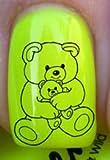Bär und Baby Bär - Nagelabziehbild von YRNails