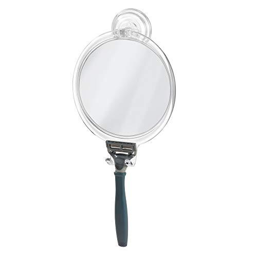InterDesign Power Lock Espejo de baño para afeitarse, espejo de maquillaje a prueba de roturas en plástico...