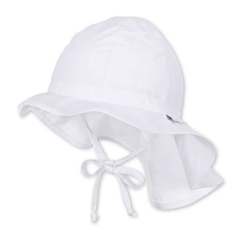 Sterntaler Unisex Flapper mit Bindebändern und Nackenschutz, Alter: ab 6-9 Monate, Größe: 45, Weiß (Sonne Babys)