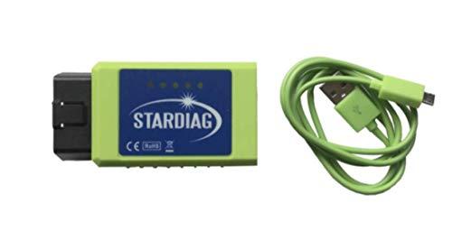 Stardiag WiFi + USB Diagnoseinterface OBD2 Fehlerdiagnose Fehler auslesen Service geeignet für z.B. Carport Diagnose