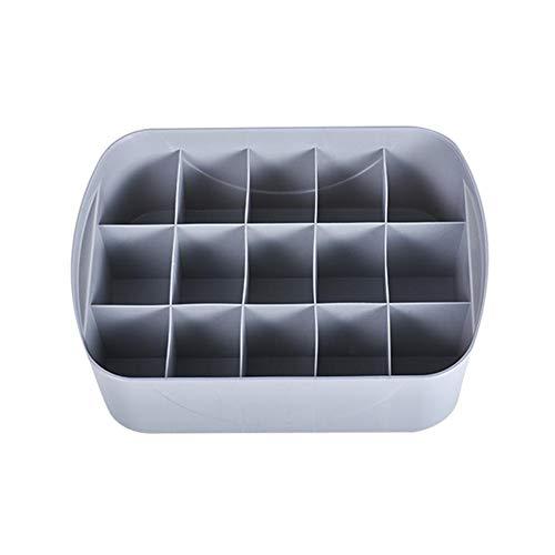 Schubladenbox,Multi-Quadrat-Schrank-Unterwäsche-Organisator Aufbewahrungsbox mit Abdeckung für BHs Unterwäsche Schubladen Trennwand Socken Krawatten