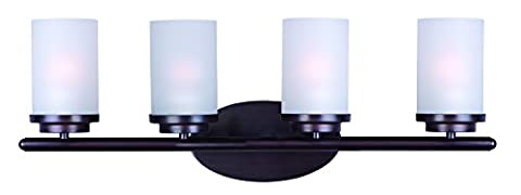 Maxim Lighting 10214 Corona Bath Vanity Light Fixture, Oil Rubbed Bronze Finish, 26.25 by 9-Inch by Maxim Lighting