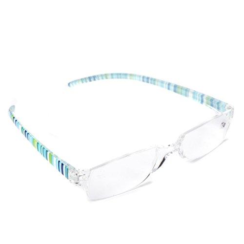 fc3d9a9464 cuigu Gafas de Lectura, Resin, a rayas claras lente presb yopie Gafas,.