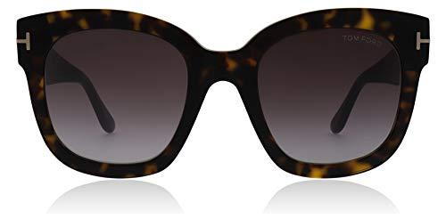 Tom Ford Unisex-Erwachsene FT0613 52T 52 Sonnenbrille, Braun (Avana Scura/Bordeaux Grad),