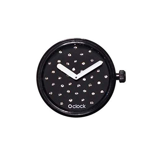 o bag o clock meccanismo cristal (nero)