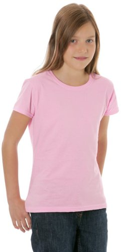 Fruit of the Loom Girls' Value Weight T, White, 140