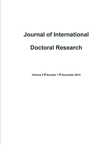 Journal of International Doctoral Research (Jidr) Volume 2, Issue 1