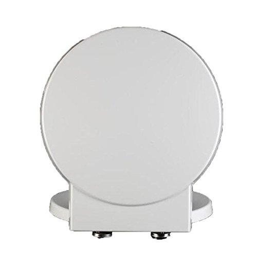 S-graceful WC-Sitz Mit Antibakteriellem Harnstoff-Formaldehydharz Mute Thicken WC-Sitzbezug Für Runde Toilettenform Toilettendeckel,White-41.1-45.7 * 40CM (Runde Wc-sitz Weiß)