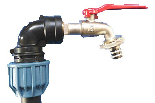 Klemmverbindung sHKVMK34 col de cygne pour conteneur iBC-garten-fût-tank-adaptateur-montage zysterne-bidon/tonne