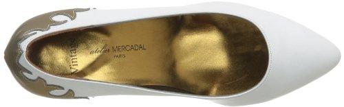 Atelier Mercadal Vintage Oasis, Escarpins femme, Noir (Charol Negro/Pantera Oro), 41 EU Blanc (Kaiser Blanco Laminado Bronze)