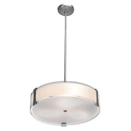 18 Semi Flush (Access Lighting Tara 18 LED Semi-Flush - Brushed Steel Finish with Opal Glass Shade by Access Lighting)