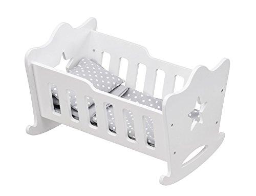 Preisvergleich Produktbild Kids Concept- Puppenwiege Wiege mit Stern Star Optik 27x42x42cm, Weiß