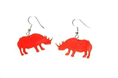 Boucles d'oreilles modèle rhinocéros