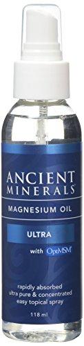 Magnesium Öl Ultra, mit OptiMSM TM (118,3 ml) - Ancient Minerals -