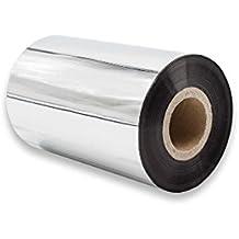 vhbw Rollo de papel térmico negro 100mm para fax, impresoras Zebra Z6M, Z6M+, ZM400, ZM600, ZT200-Serie, ZT220, ZT230