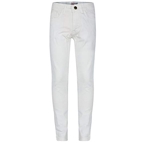 A2Z 4 Kids® Kinder Mädchen Dünn Jeans Designer Denim - Girls Jeans JN25 White 7-8