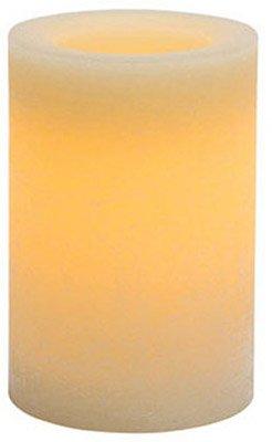 Inglow Flameless Candle redondo vanilla-scented Pilar con temporizador, 4por 15,24cm de altura, color crema