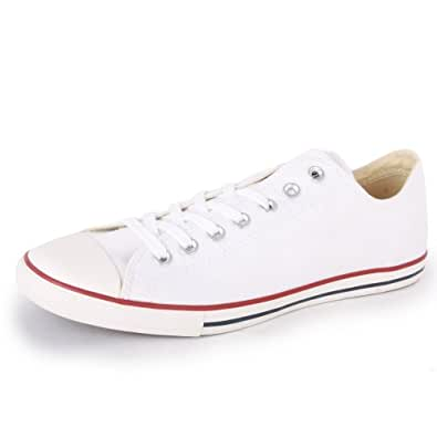 Converse Chuck Taylor All Star Lean Ox 142270F Unisex Laced Canvas Baskets Wh...