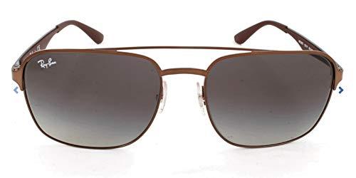 Ray-Ban RAYBAN Unisex-Erwachsene Sonnenbrille 3570, Brown/Lightgreygradientdarkgrey, 58