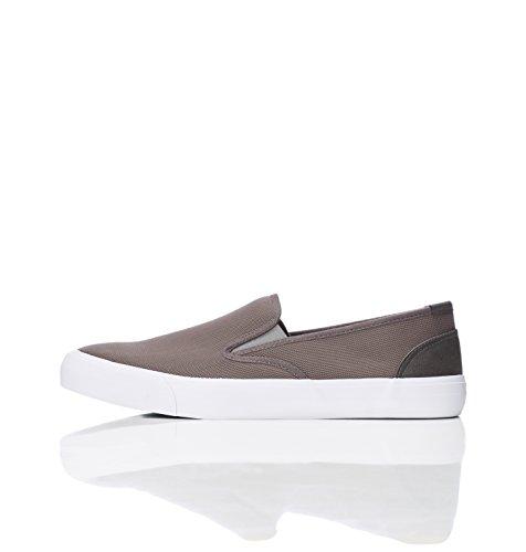 find. Sneaker Herren mit strukturiertem Stoff und rutschfester Sohle, Grau (Grey), 44 EU Herren-slip-on-sneakers