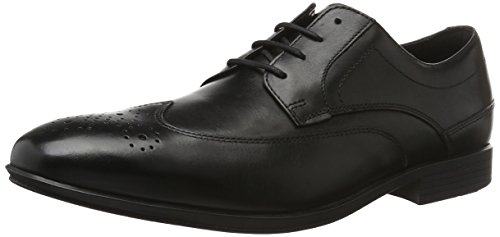 Rockport Herren Style Connected Wingtip Stiefel, Schwarz (Black Leather), 43 EU