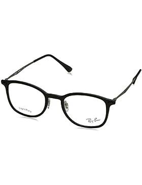 Ray-Ban 0Rx7051 Monturas de gafas, Rectangulares, 47, Matte Black