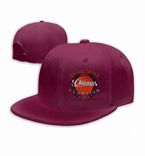 Unisex Baseball Cap Trucker Hat Adult Cowboy Hat Hip Hop Snapback Chicago Basketball Graphic Sport Emblem Design Print Wine red