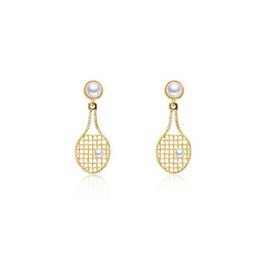 QIYUEQI Ms Ohr schrauben Badminton Schläger temperament Persönlichkeit und vielseitige Ohrringe ohr Nagel Ohr fallen in die Atmosphäre.