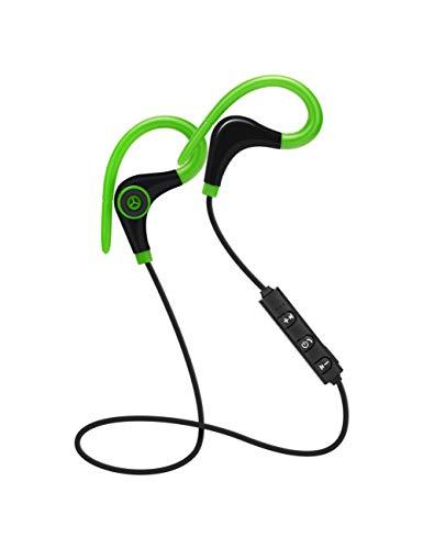 HPYS Sport Kopfhörer Hand Free Wireless Bluetooth Headset Kopfhörer Sport In-Ear-Kopfhörer für Smartphone Green Wireless Hands Free-headset