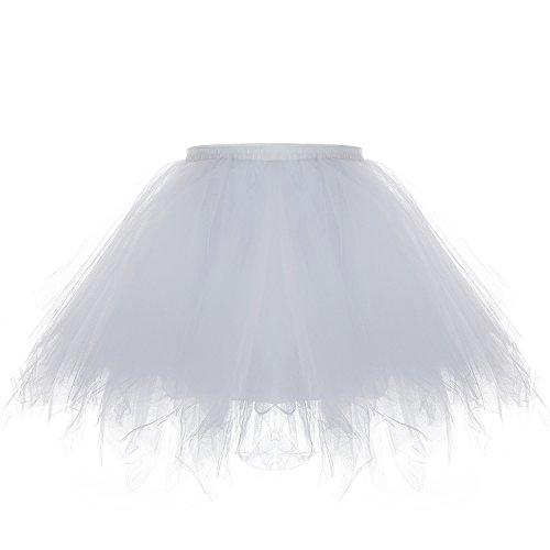 erkleid Kurz Blase Ballett Tanzkleid Ballklei Abendkleid Zubehör (Weiß) ()