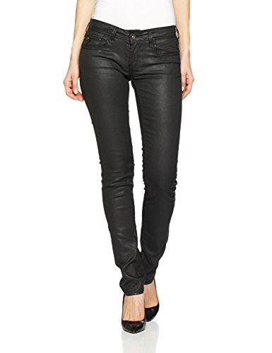 Garcia Damen Slim Jeanshose Riva, Gr. W28/L32 (Herstellergröße: 28), Schwarz (black 60)