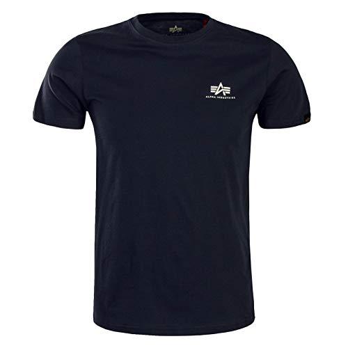 Alpha Industries Basic T Small Logo T-Shirt Schwarz/Grau XL (Industrie-kurzarm-baumwolle)