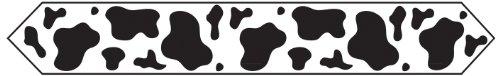 "Beistle 57200 Printed Cow Print Table Runner, 11"" x 6'"