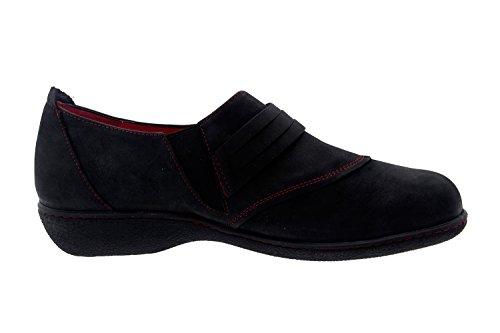 Scarpe donna comfort pelle Piesanto 3552 scarpe casual comfort larghezza speciale Negro