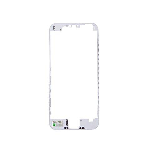 2 x FONFON Rahmen Middle Klebepad Frame Housing Bezel Mittel Schale mit Kleber Cover Gehäuse für Apple iPhone 5 5G Weiß Bezel Frame Cover