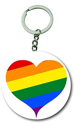 Einfache Kostüm Tag Zeichen - Gifts & Gadgets Co. Gay Pride Flagge CND Zeichen Flaschenöffner Schlüsselanhänger 58mm rund Schlüsselanhänger Schlüsselanhänger