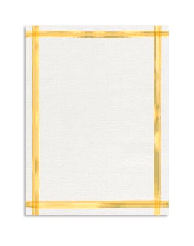 Kracht seit 1810 KRACHT, Leinen Geschirrtuch, Gläsertuch, 60x80cm (gelb) (Geschirrtücher Leinen 100)