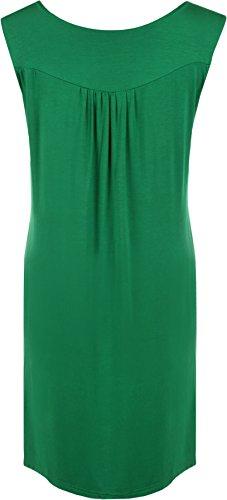 WearAll - Haut sans manches avec détail clouté sur la poitrine - Hauts - Femmes - Grandes tailles 40 à 54 Jade