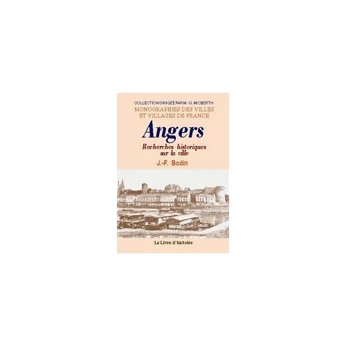 Angers (Recherches Historiques Sur la Ville d')