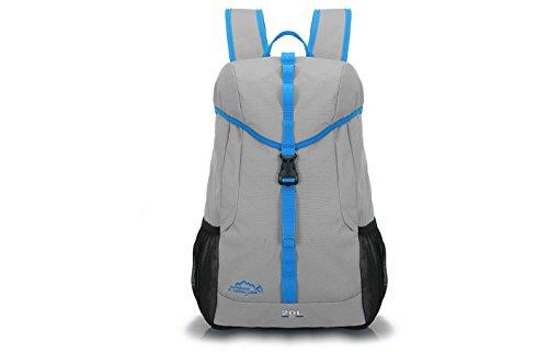 LQABW Schulter-Spielraum-Wasserdicht Wandern Outdoor Sports Mountaineering Polyester Reduzierte Rucksack Tasche Gray