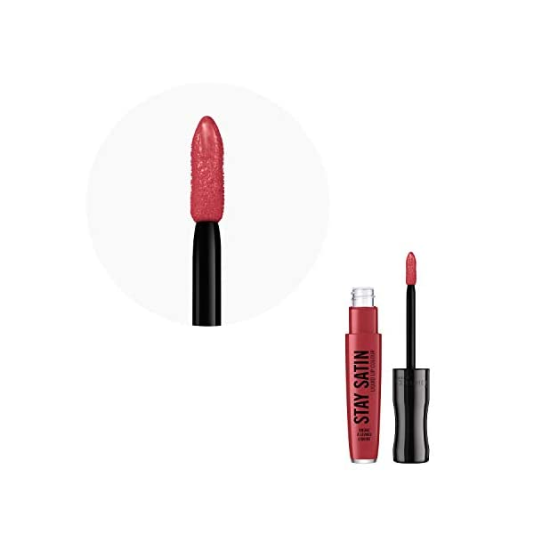 Rimmel London Stay Satin Liquid Lip Colour Barra De Labios Tono 140 Scheweet! (Gama Rojos) – 21 gr