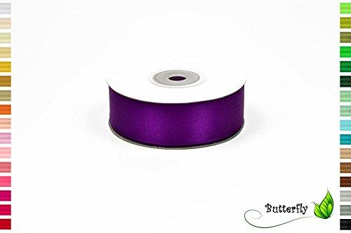 Creativery 25m Rolle Satinband 25mm//Schleifenband Satin Deko Band Geschenkband Dekoband Dekoration Hochzeit Taufe, Farbe: lila/purpur 465