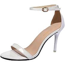 c444d4a33ea73 Sandales Femmes Talons Ete Mode Vintage Casual Pas Cher Talon Aiguille Sexy  Chaussures De SoiréE