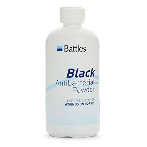 Pulver Erste Hilfe (Battles Black antibakterielles Pulver für Pferde (125g) (Weiß))