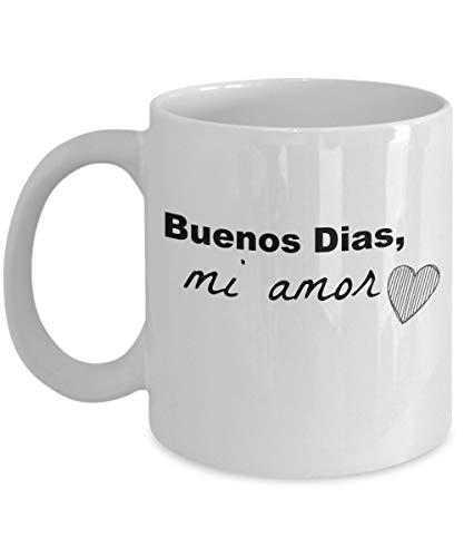 FLOOUY Spanish Mug. Espanol: Buenos Dias, Mi Amor Quality Ceramic Coffee Mug. Great Gift for Someone You Love (translates to Good Morning, My Love)