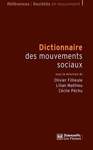 Dictionnaire des mouvements sociaux (Références) par Olivier Fillieule